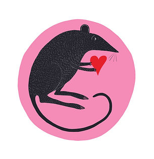Rat with Heart