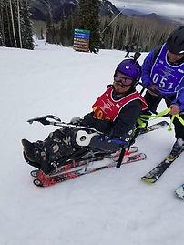 Thomas Sagpao skiing dowhill