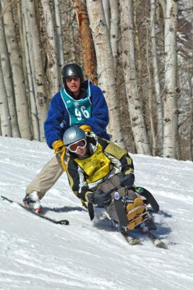 Alan (Doc) Babin skiing downhill