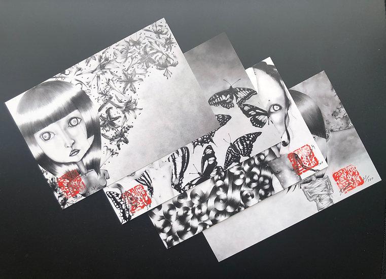 【花蝶風月】ポストカード4枚セット