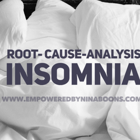 Root-cause-analysis of insomnia