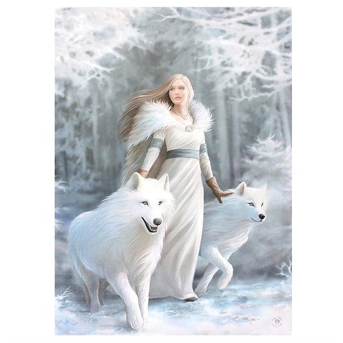 Frau mit Wölfen