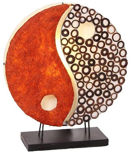 Leuchte Ying Yang orange 30cm