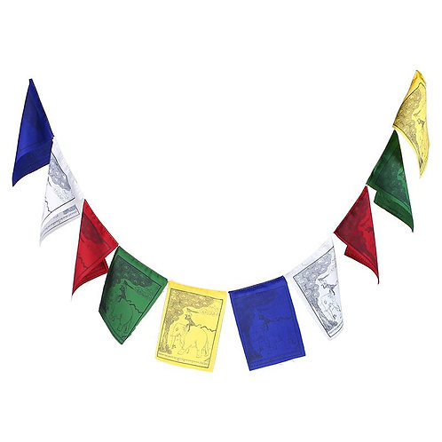 Tibetische Gebetsfahnen `Die Vier Freunde`