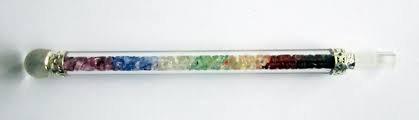 Zauberstab Regenbogen mit Bergkristall