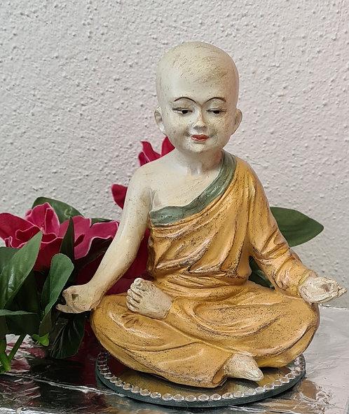 Yoga Mönch Statue Om