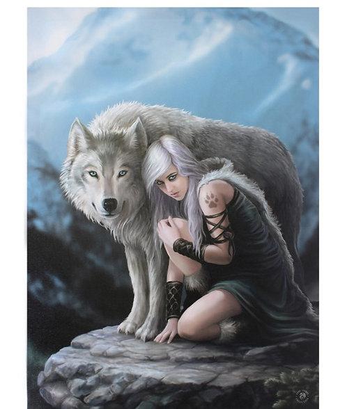 Der beschützende Wolf