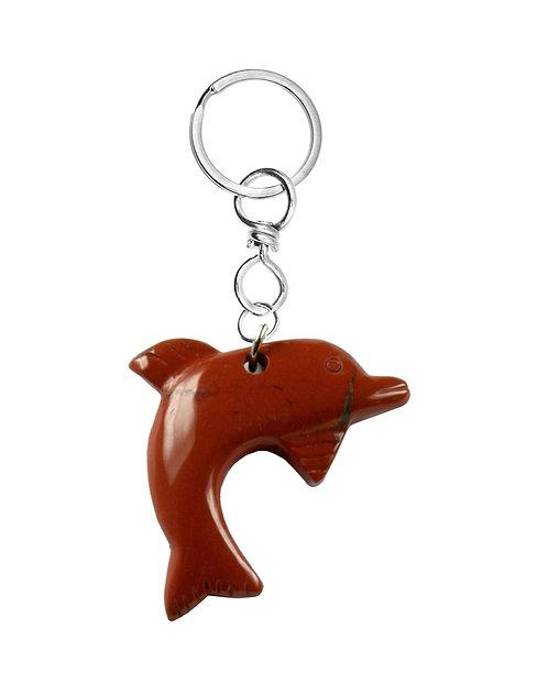 """Schlüsselanhänger Delfin """"Jaspis rot"""""""
