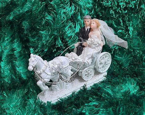 Kutsche mit Brautpaar