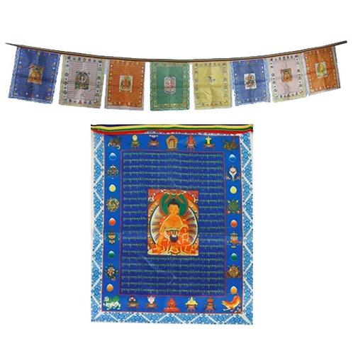 10 Tibetische Gebetsfahnen Buddhas