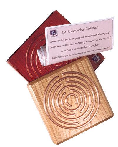 Lakhovsky Oszillator aus Holz und Kupfer