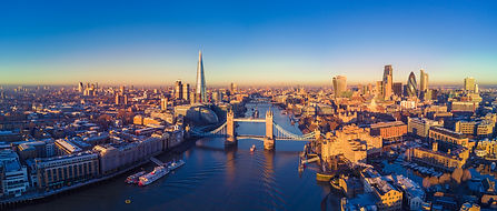 Aerial panoramic cityscape view of Londo