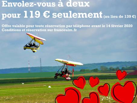 Saint-Valentin : Envolez-vous à deux