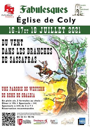 Affiche Fabulesques 2021 Du vent dans les branches de sassafras à Coly