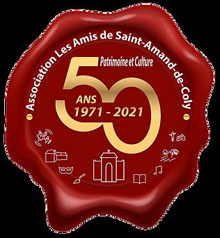 Logo 50 ans des Amis de Saint Amand de Coly