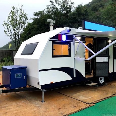 露營拖車也可以使用醇氫發電機來發電了喔!