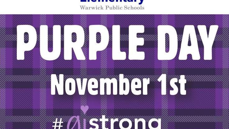 Greenwood Elementary Purple Day