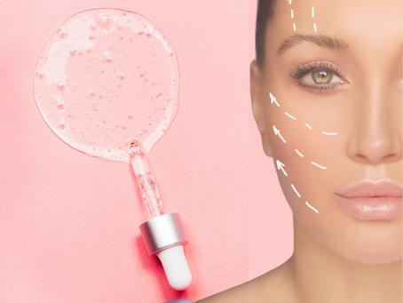 Tratamento facial com aplicação de ácido hialurónico