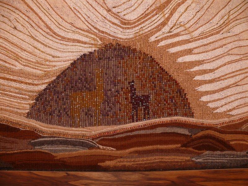 אריגת חרוזים בשילוב צמר אלפקה
