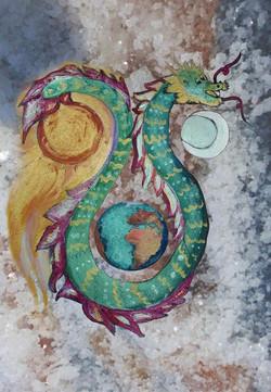ראש וזנב דרקון כמייצגים תהליכי התפתחות
