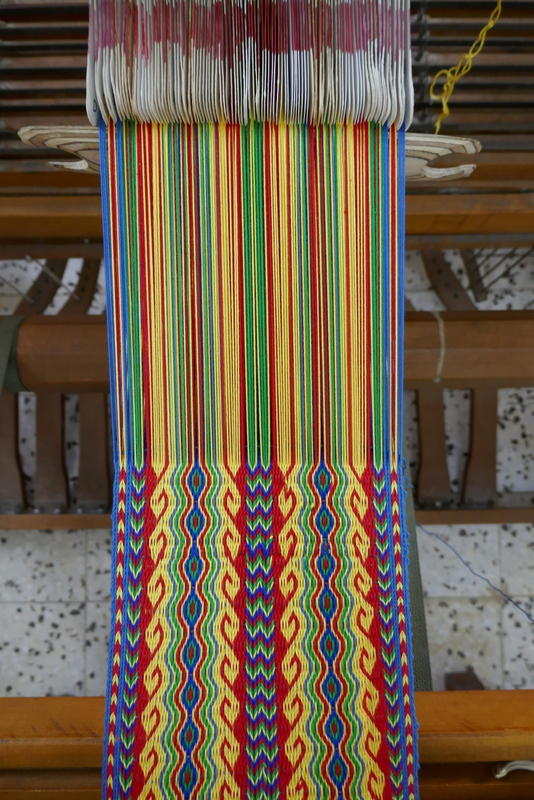 אריגת קלפים Tablet weaving