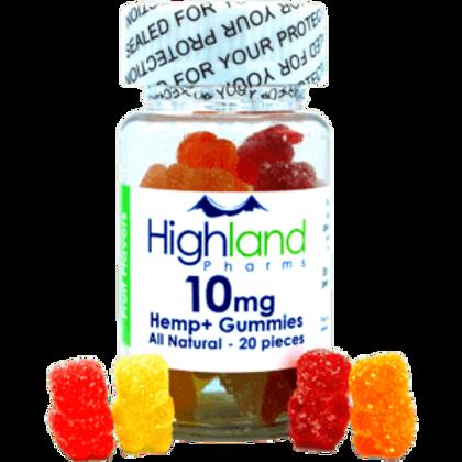 Hemp+ Gummies 20pcs / 10mg - Highland Pharms