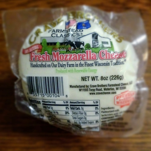 Cheese - Fresh Mozzarella 8oz Crave Bros
