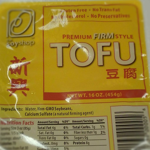 Tofu - Local GA Soy Shop - 1lb Xtra firm