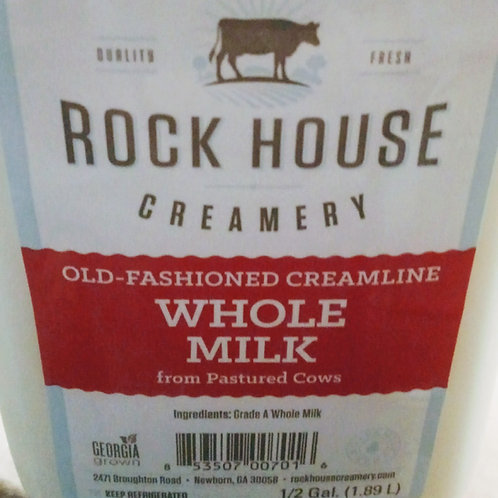 Milk, Whole 1/2 gallon - Organic