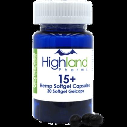 Hemp CBD Softgel Capsules - 30ct 15mg