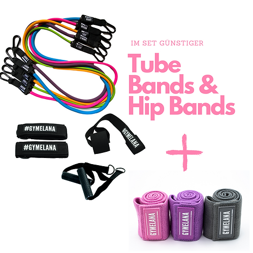 #Gymelana Tube Bands & Hip Bands im Set