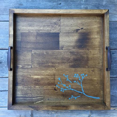 Rustic Wooden Tray (berries)