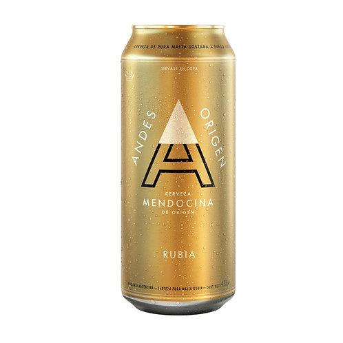 Cerveza ANDES RUBIA  lata 473cc