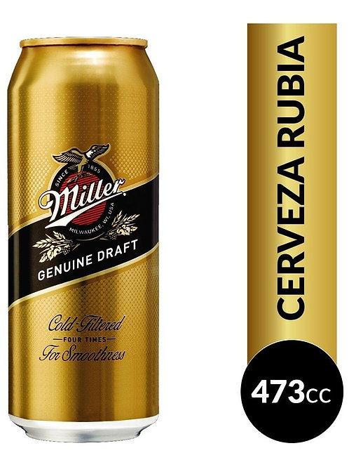 Cerveza MILLER lata 473cc.