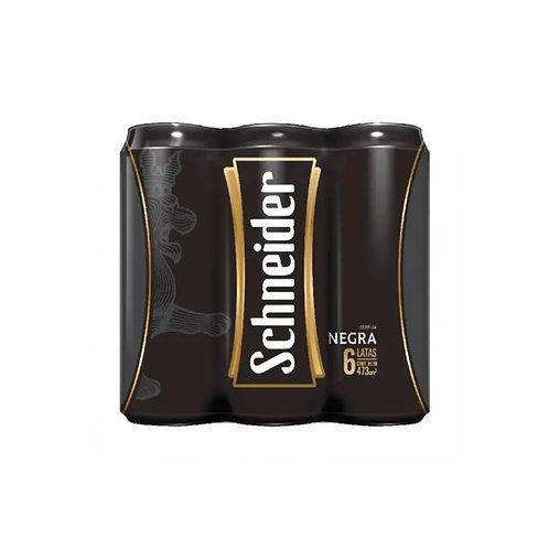 Cerveza Schneider negra PACK  DE 6 latas de 473cc