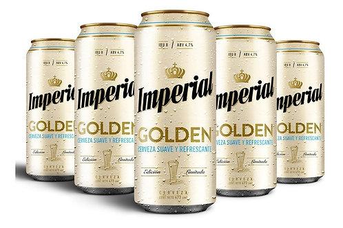 Cerveza IMPERIAL GOLDEN PACK DE 6 latas de 473cc
