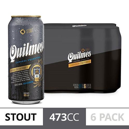 Cerveza QUILMES STOUT PACK DE 6 latas 473cc