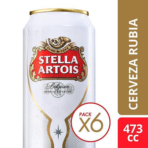 Cerveza Stella Artois PACK DE 6 latas 473cc