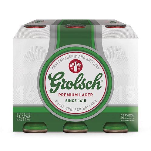 Cerveza GROLLSCH PACK DE 6latas 473cc