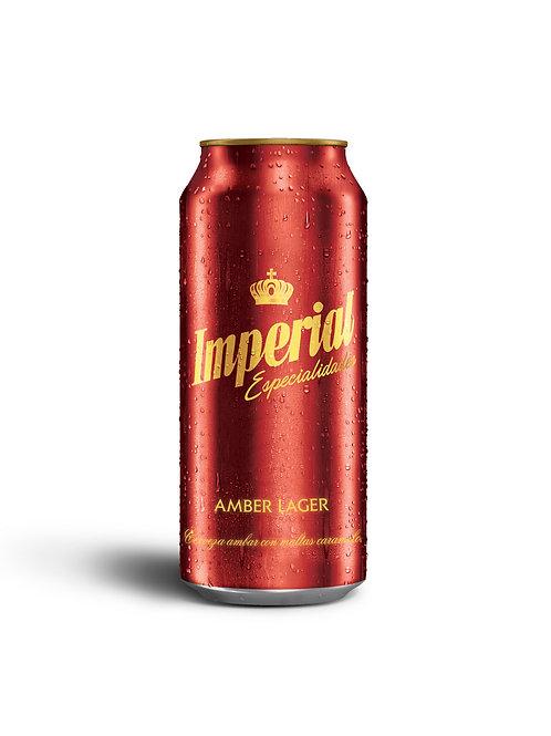 Cerveza IMPERIAL AMBER lata 473cc