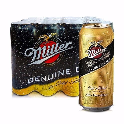 Cerveza MILLER PACK DE 6 latas 473cc