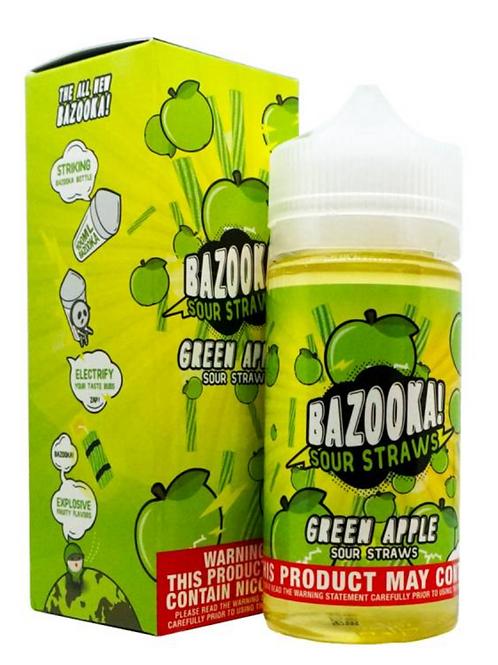 Bazooka Sour Straws Ice  Green Apple  200ml  3mg