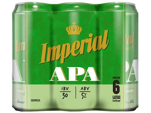 Cerveza IMPERIAL APA  PACK DE 6 latas 473cc