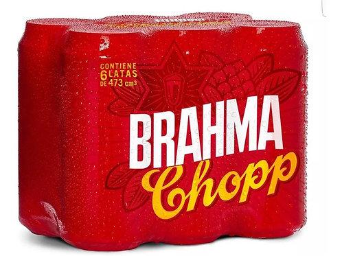 Cerveza BRAHMA PACK DE 6 latas 473cc