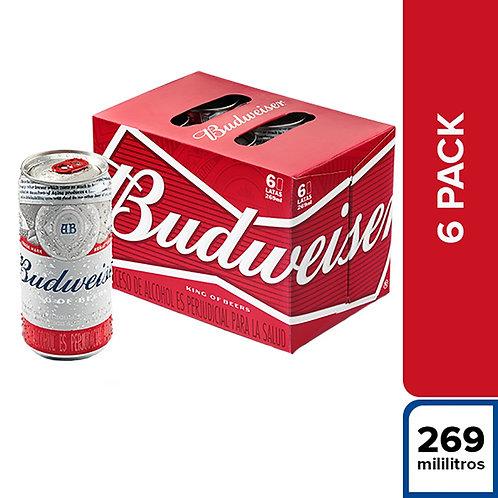 Cerveza BUDWEISER PACK DE 6 latas 473cc
