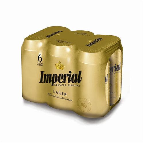 Cerveza IMPERIAL PACK DE 6 latas 473cc