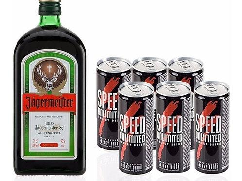 Jägermeister 700 ml + 6 Speed