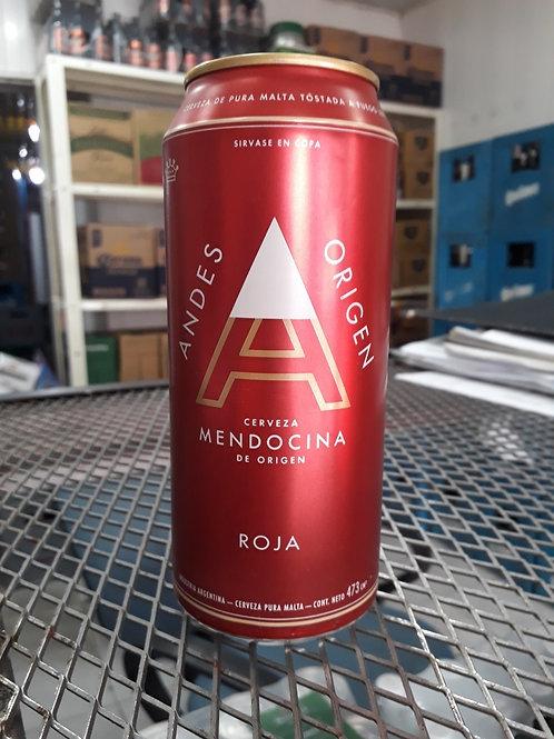 Cerveza ANDES ROJA  lata 473cc