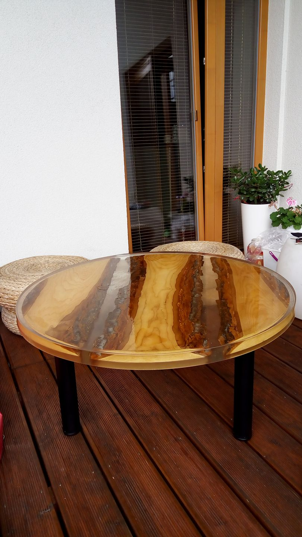 Epoxidový stůl pr.90cm