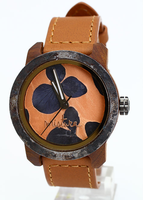 Marco Brown Mistura Watch - Black Flowers